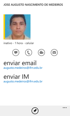(Windows Phone) Contato