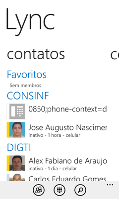 (Windows Phone) Contatos