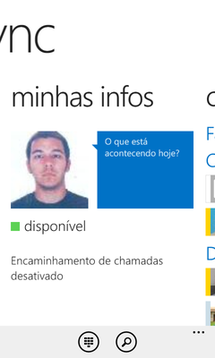 (Windows Phone) Minhas infos